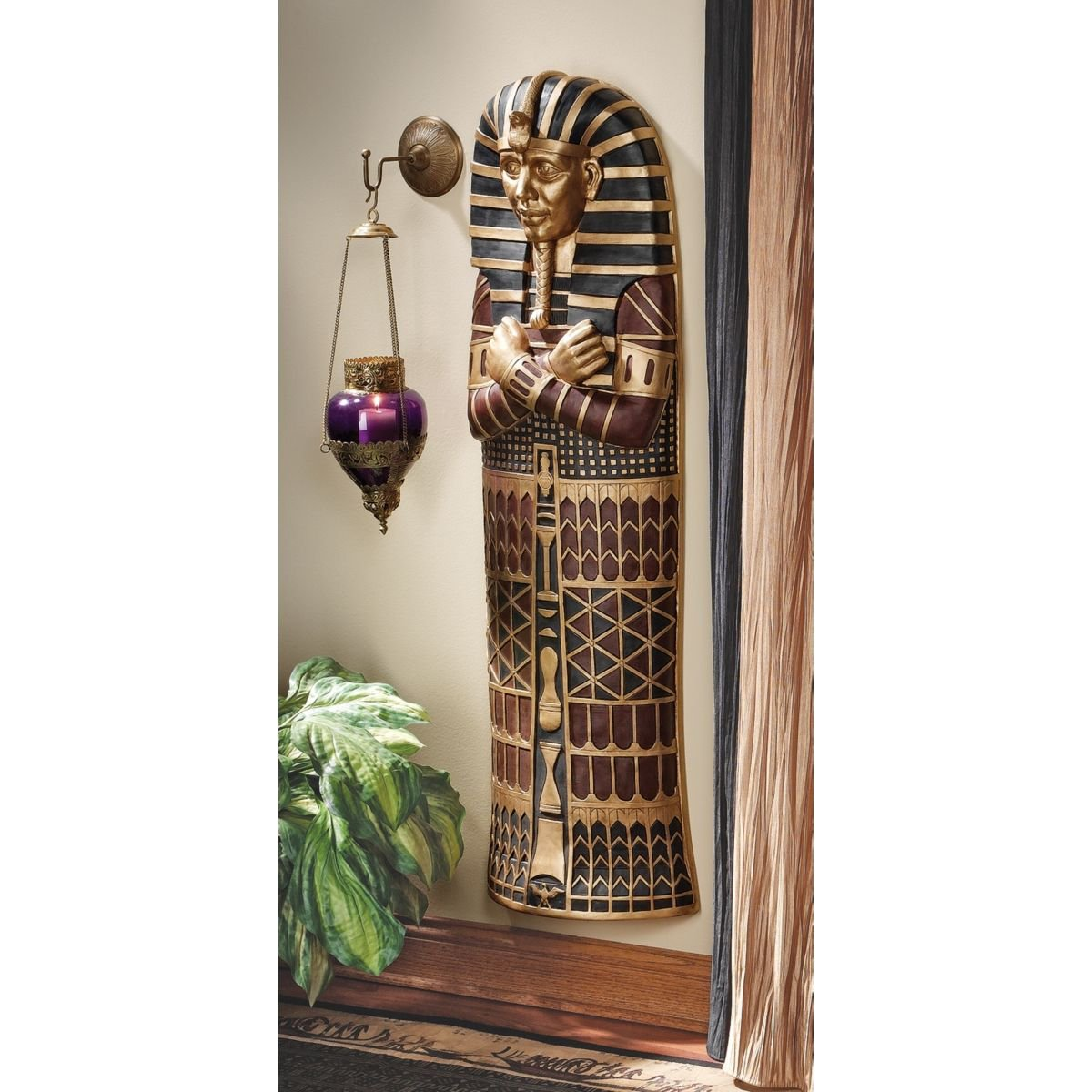 Design Toscano King Tut Sarcophagus Wall Sculpture KY1163