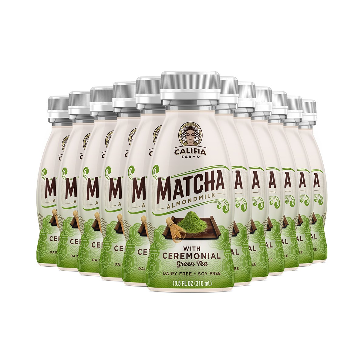 Amazon.com : Califia Farms Almondmilk, Dairy Free, With Ceremonial Green Tea, Matcha, 10.5 Oz (Pack of 12) : Grocery & Gourmet Food