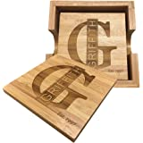 Personalized Name Coaster - Set of 4. FREE ENGRAVING by Griffco.