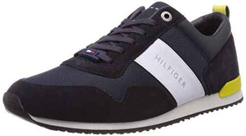 Tommy Hilfiger Iconic Material Mix Runner, Sneakers Basses Homme
