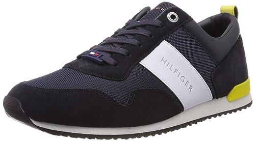 brillance des couleurs mode la plus désirable mieux aimé Tommy Hilfiger Iconic Material Mix Runner, Sneakers Basses Homme