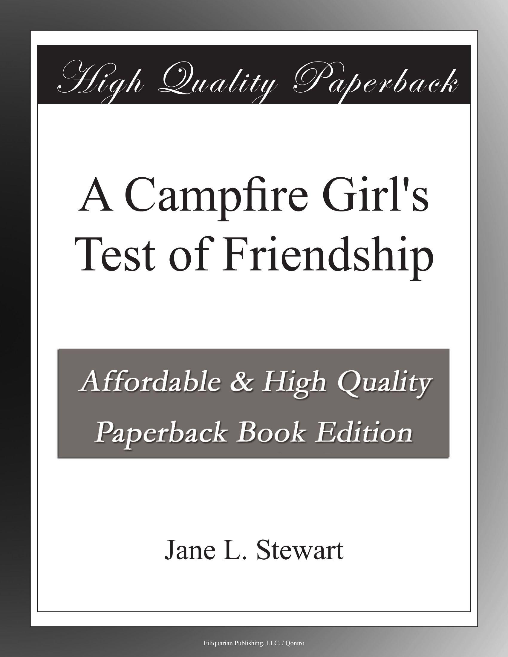 A Campfire Girl's Test of Friendship pdf epub