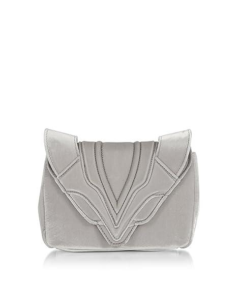 ELENA GHISELLINI - Cartera de mano para mujer Plateado plata Marke Größe, color Plateado,