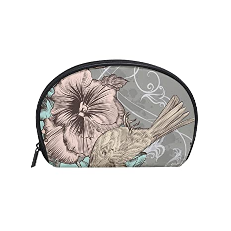 Amazon.com : LORVIES Flowers And Hummingbird Cosmetic Pouch Clutch Makeup Bag Travel Organizer Case Toiletry Pouch for Women : Beauty