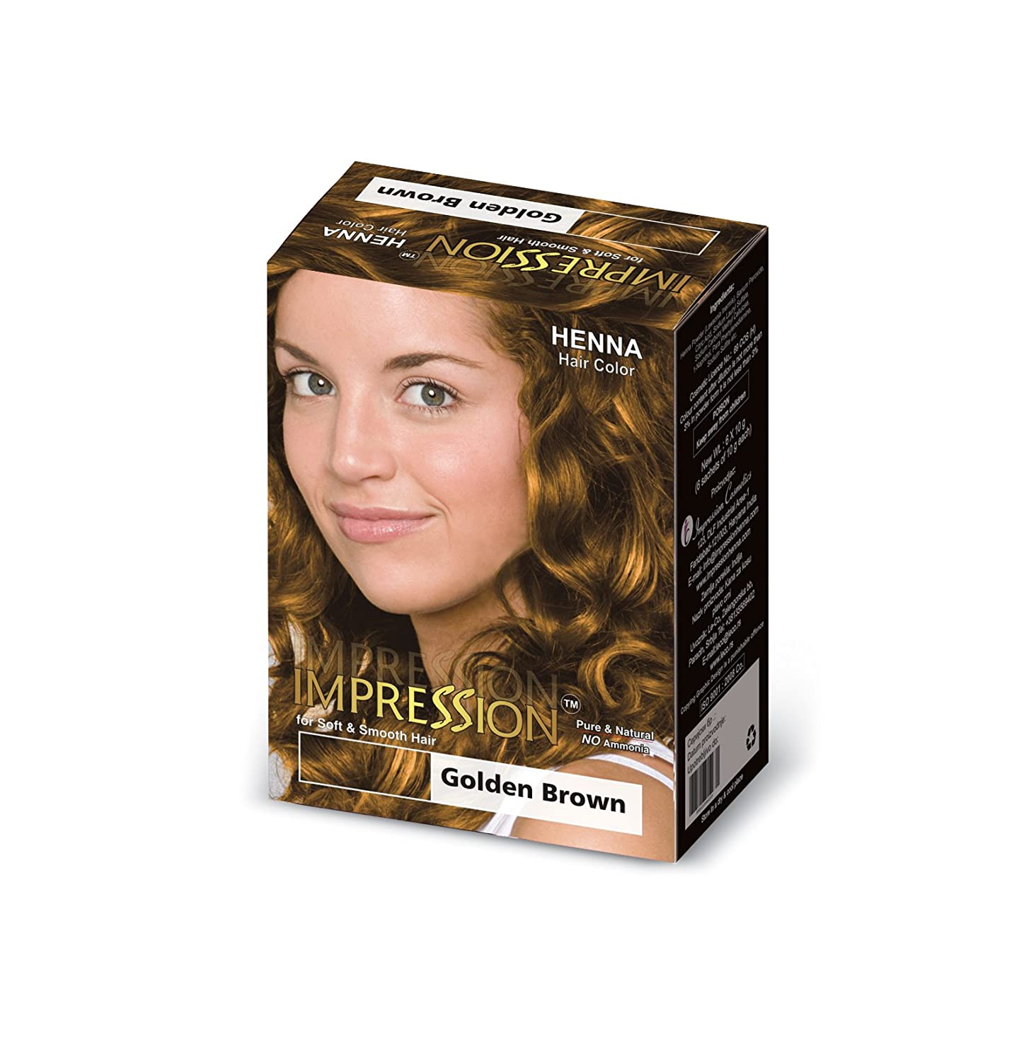 Buy Impression Golden Brown Henna Based Hair Colour 300g Online At