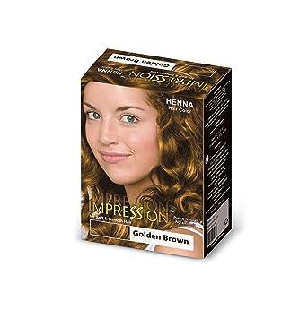 Buy Impression Golden Brown Henna Based Hair Colour 300g Online At
