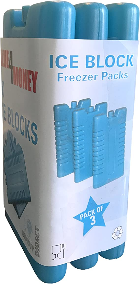 Pack of 3/6 - Freezer Blocks - Use With a Cool Bag For Added Cooling: Amazon.es: Electrónica