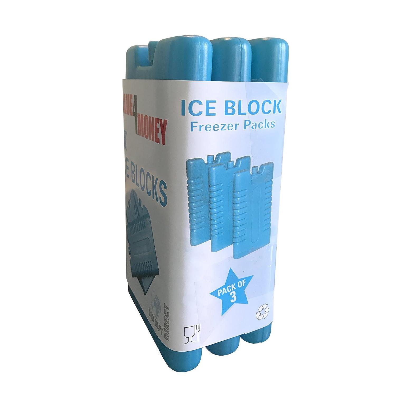 /Une Utilisation avec Sac Isotherme pour Plus de Refroidissement/ /Rafra/îchit et Garde la Nourriture au Frais /Cong/élateur Blocs/ Value 4 Money Lot de 3//6/