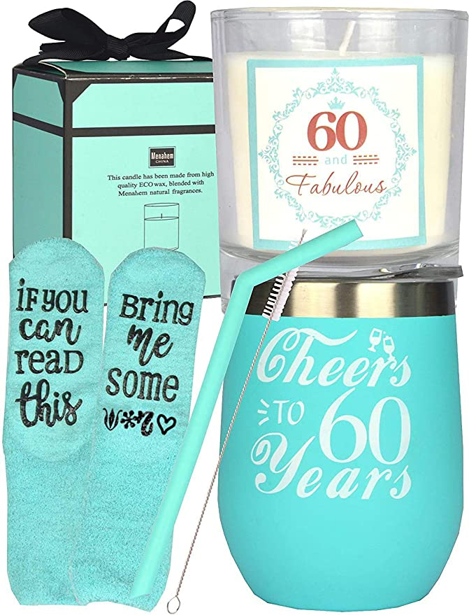 60th Birthday Tumbler, 60th Birthday Decorations for Women, Gifts for 60 Year Old Woman, Turning 60 Year Old Birthday Gifts Ideas for Women