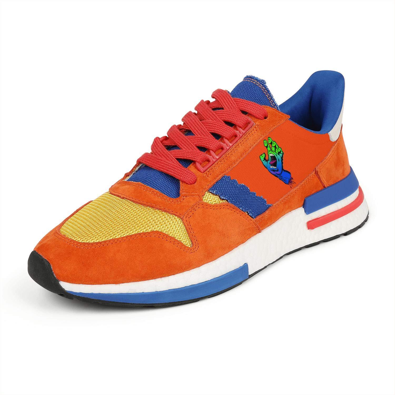 Mens Lightweight Orange Blue Co Vintage Hiking Running Sneakers Shoes