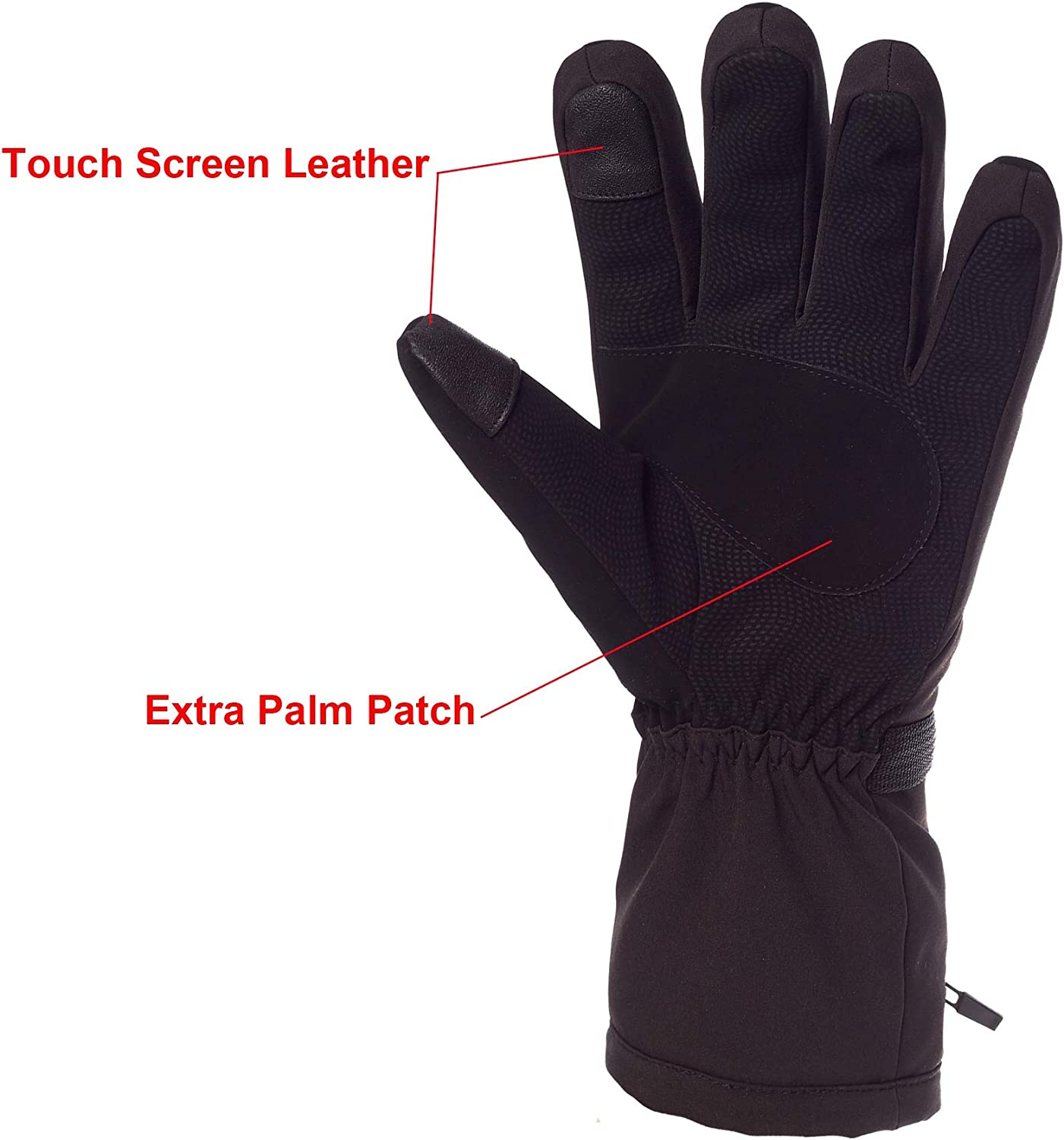Power Heated Gloves Mens Electric Winter Thermal Ski snowboard Gloves 7.4V Rechargeable Battery Hand Warmers