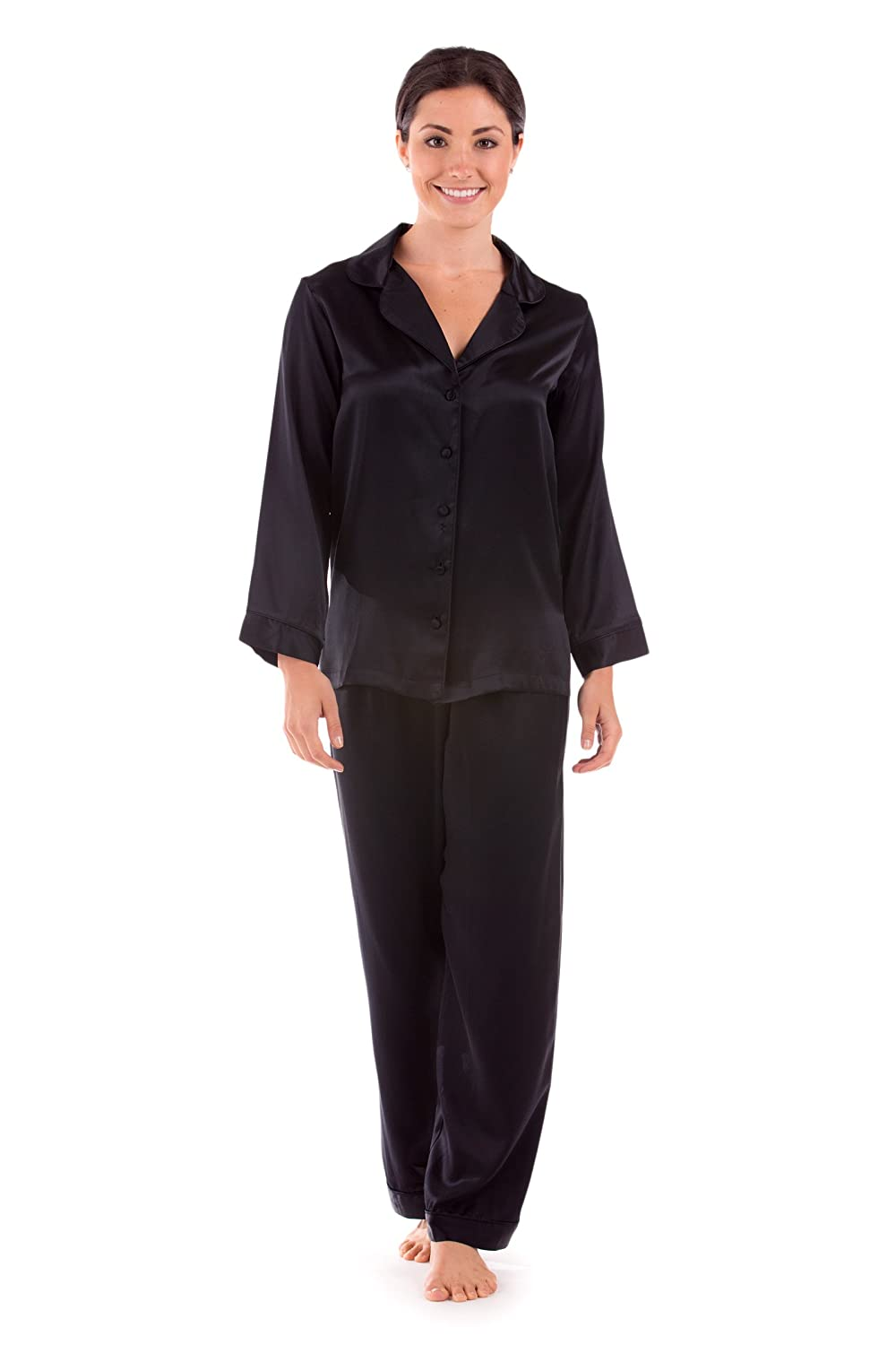 TexereSilk Women's Luxury Silk Pajama Set (Morning Dew) Beautiful Gifts