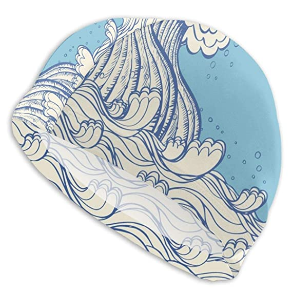 GUUi Swimming Cap Elastic Swimming Hat Diving Caps,Abstract Doodle ...