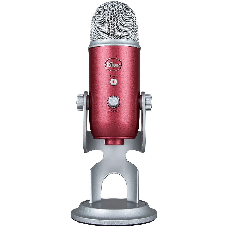 Microfono Condensador Profesional Usb Blue Yeti Rojo (xmp)