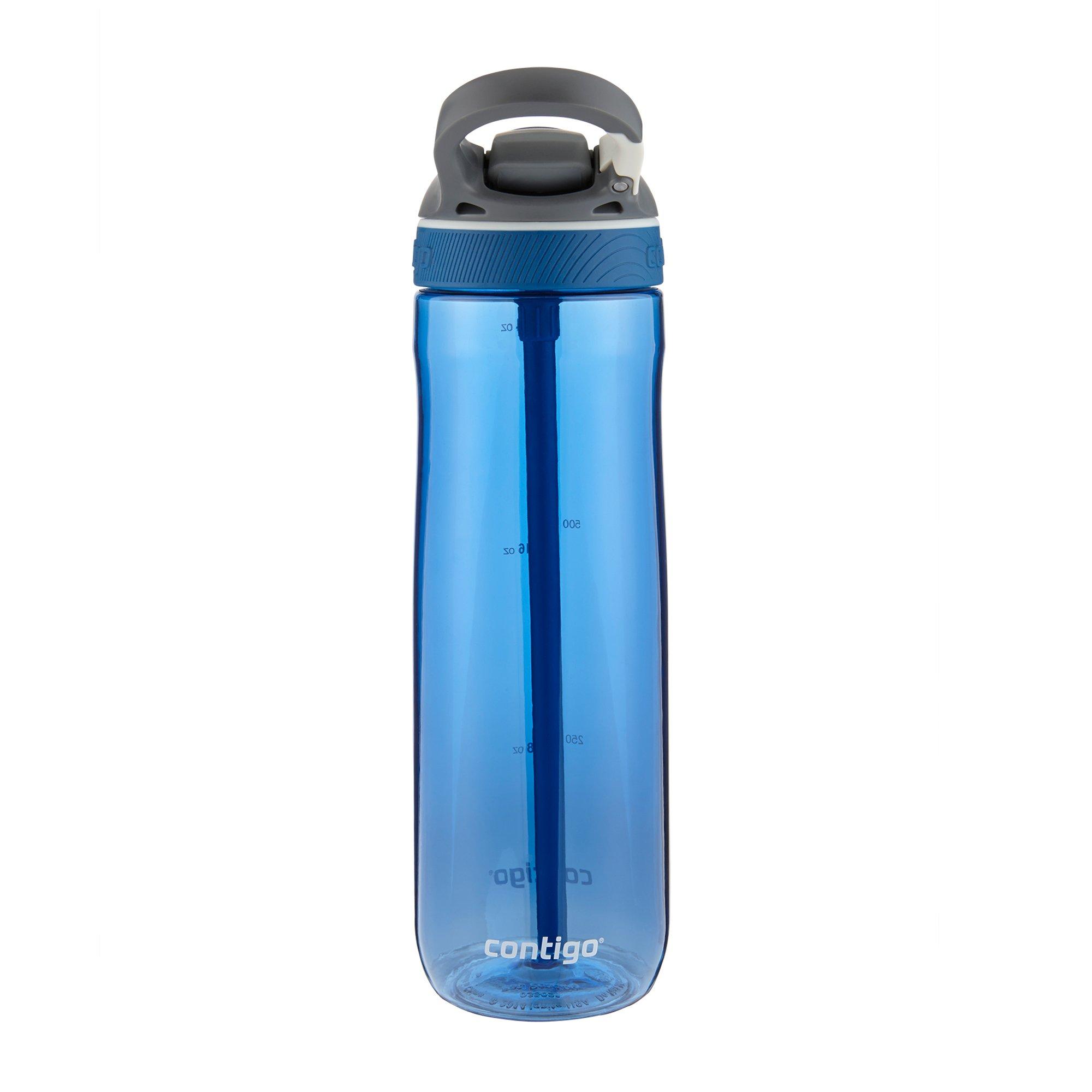 Contigo AUTOSPOUT Straw Ashland Water Bottle, 24 oz, Stormy Weather/Vibrant Lime/Monaco, 3-pack by Contigo (Image #5)