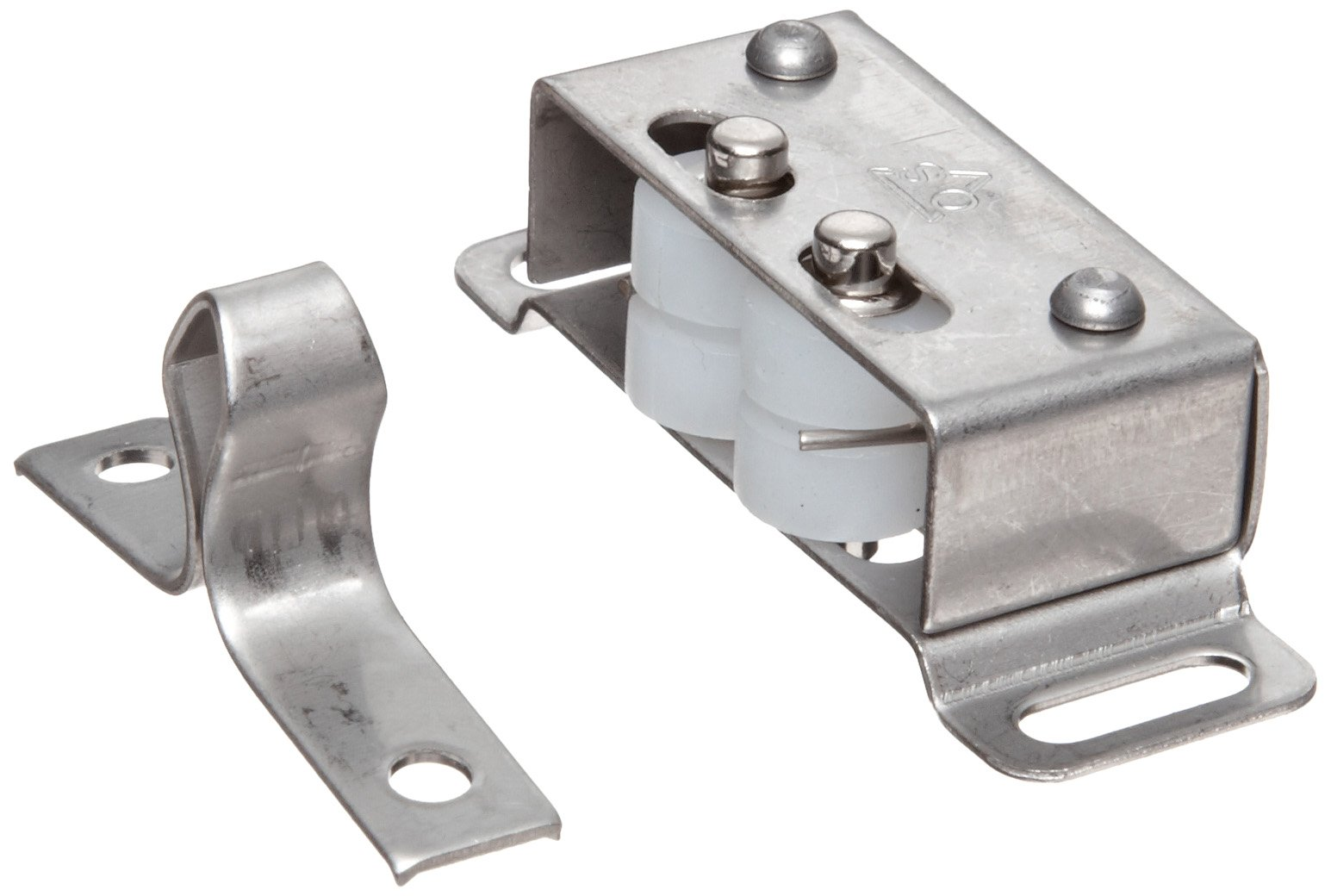 Stainless Steel 304 Surface Mount Roller Catch, 6lbs Pull Power, 1-27/32'' Length, 1-19/64'' Width, 37/64'' Height (Pack of 2)