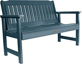 product image for highwood AD-BENW2-NBE Lehigh Garden Bench, 4 Feet, Natucket Blue