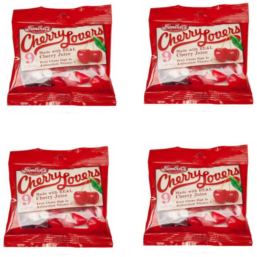 Gimbal's Gourmet Candies - 4 Pack - Cherry Lover's - 9 Cherry Flavors - 2.75 oz Bags