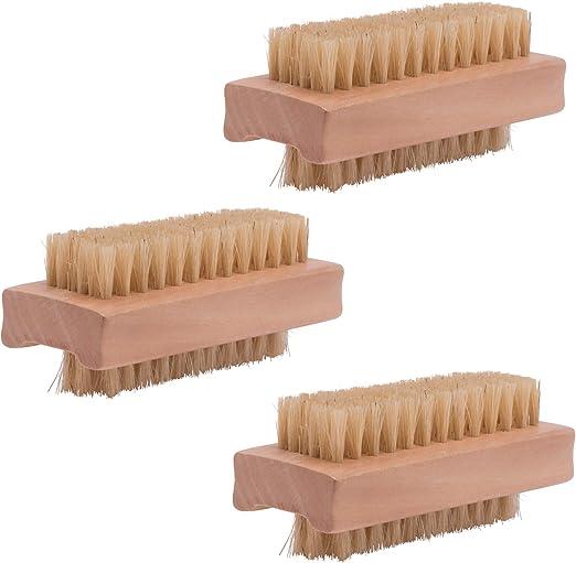 Paquete de 3 piezas (3 piezas) Cepillo para madera Cepillo de uñas de doble cara Cepillo de lavado a mano Cepillo de ducha para baño, inodoro, fregadero, taller, jardín PARSA: Amazon.es: Hogar