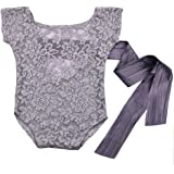 ISOCUTE Newborn Baby Girls Photography Props Lace Romper Photo Shoot Outfits