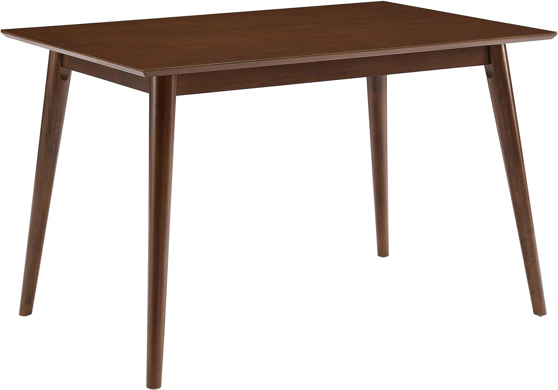 Crosley Furniture Landon Mid-Century Modern Wood Dining Table, Rectangle, Mahogany