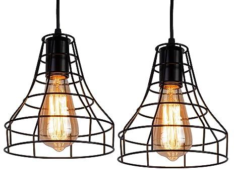 Amazon.com: INNOCCY Lámpara de techo industrial E26 E27 ...