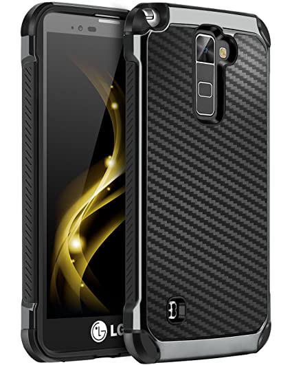 best website 222b3 bd6f3 LG Stylo 2 Plus Case, LG Stylo 2 Case, LG Stylo 2V Case, BENTOBEN 2 in 1  Drop Protection Hard PC Soft TPU Bumper Laminated with Carbon Fiber Texture  ...