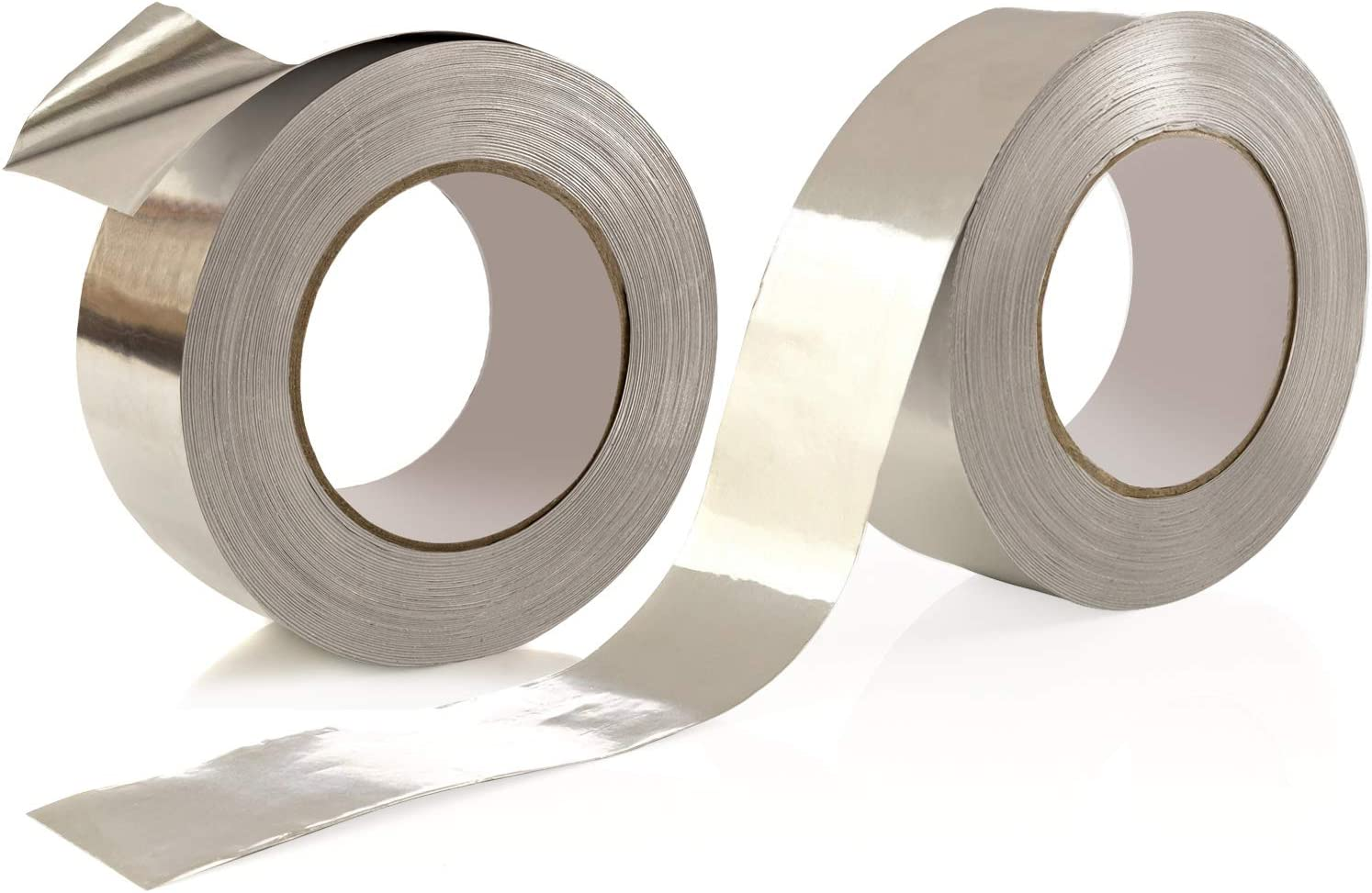 2-Pack Aluminum Tape/Foil Tape - Professional/Contractor-Grade - 1.9 inch x 150 feet (3.4 mil) - Perfect for HVAC, Duct, Pipe, Insulation and More - by Impresa Products