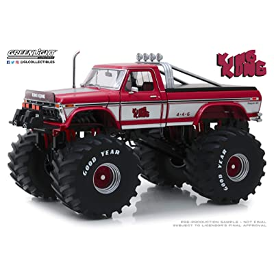 """Greenlight 13539 1: 18 Kings of Crunch - King Kong - 1975 Ford F-250 Monster Truck with 66"""" Tires: Toys & Games"""