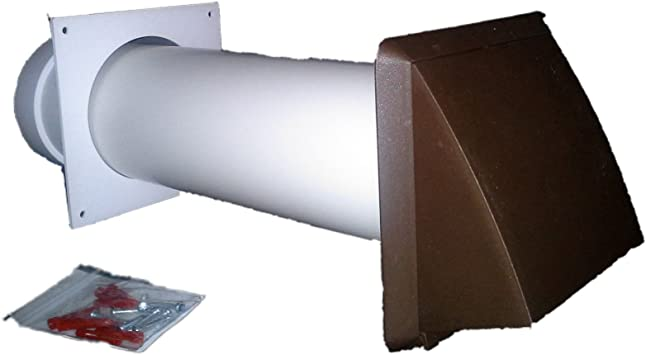 """Tumble Dryer Vent kit 100mm//4/"""" round through wall Black gravity outlet 3 flaps"""