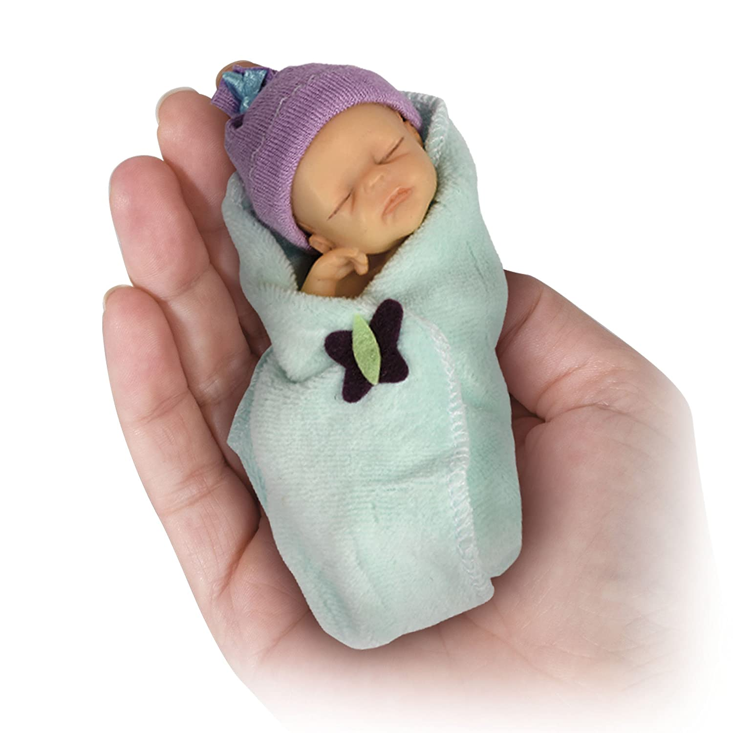 Ashton Drake - Reborn Minature Bundle Babies 'Adorable Baby Doll 2' by Sherry Rawn - Includes Tiny Nappy & Cosy Blanket