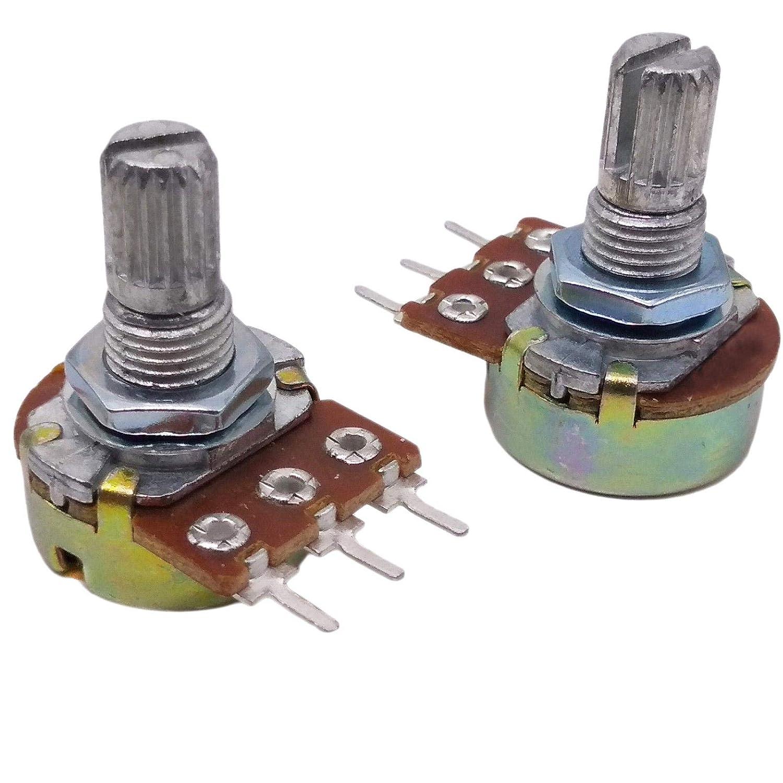 10pcs 220K ohm Linear Taper Rotary Potentiometer Panel Pot B220K 15mm