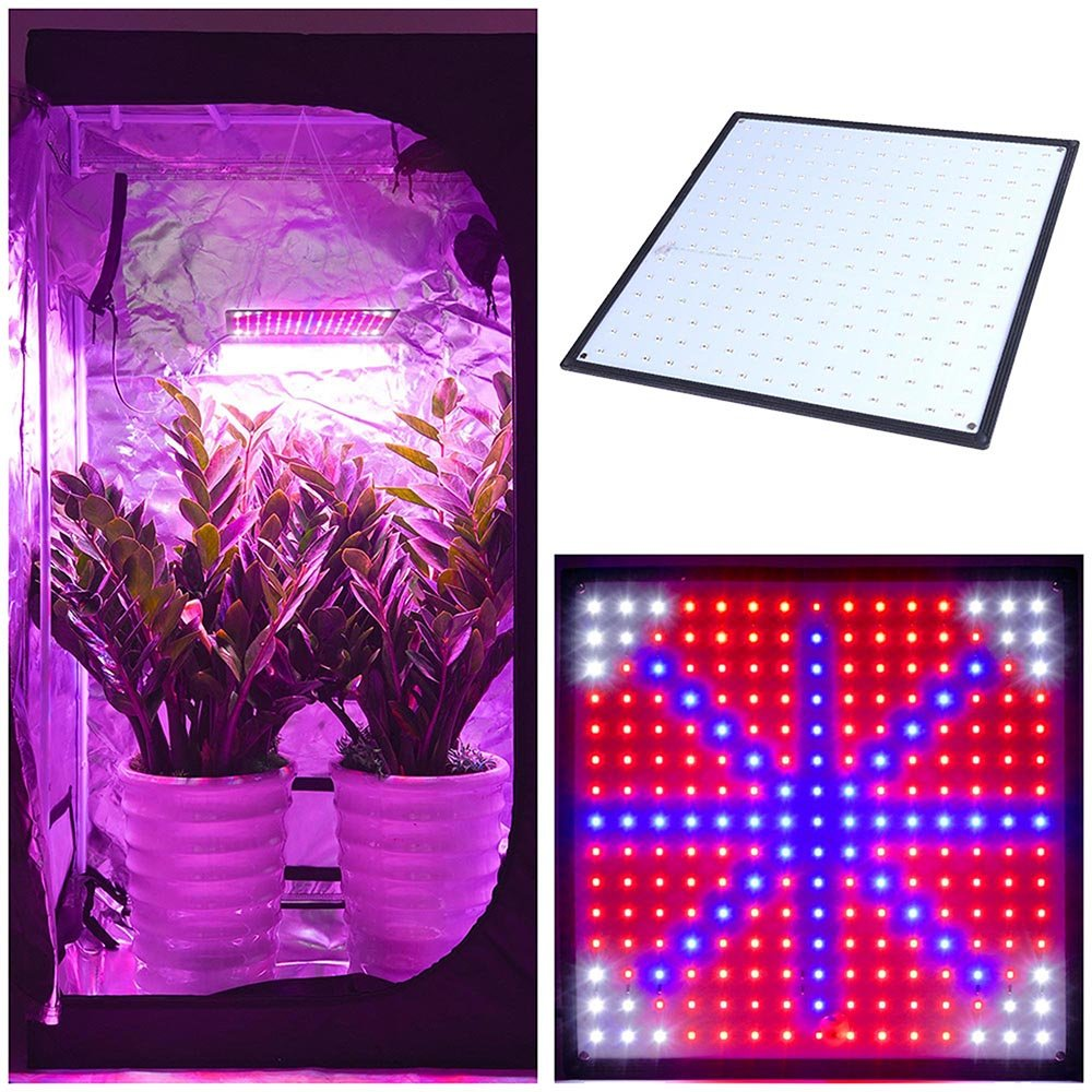 Triprel Inc Lightweight 225 Ultra-thin Blue Red Orange White LED Grow Light Panel w/ Powerful UFO SMD LEDs for Hydroponic Indoor Garden