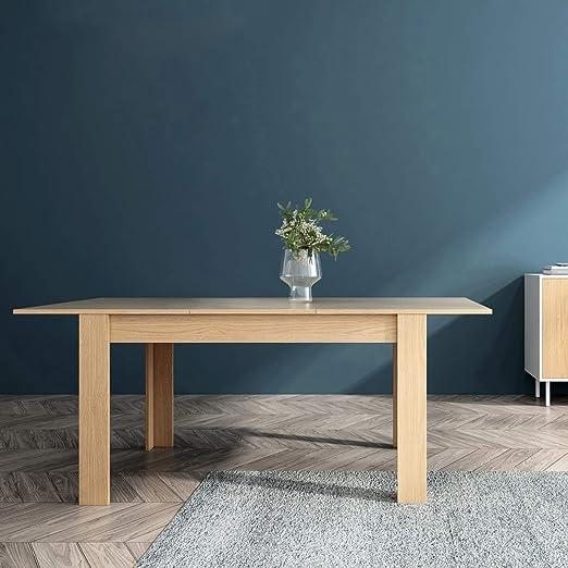 Mc Haus GROTTA - Mesa Comedor Extensible Madera salón, Mesa Cocina diseño Nórdico y patas de madera Natural 140/190x90x78cm: Amazon.es: Juguetes y juegos