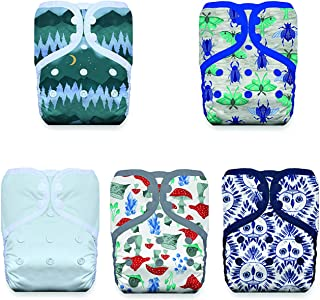 product image for Thirsties Nature's Canopy Cloth Diaper Collection Package, Snap One Size Pocket Cloth Diaper, Nature's Canopy