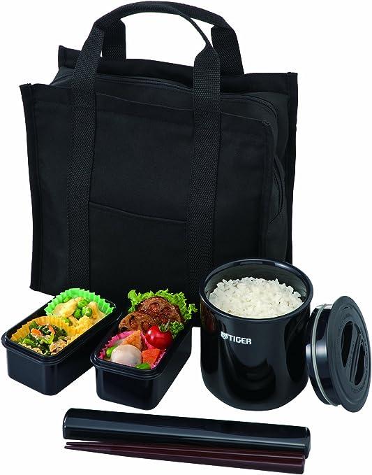 Tiger Thermos Heat Retention Lunch Bento Box Jar Black LWY-E461-K LWY-E461 F//S