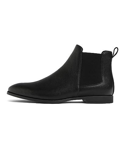 design de qualité ffced aa085 Amazon.com: Zara Men Black Embossed Ankle Boots 5014/002: Shoes