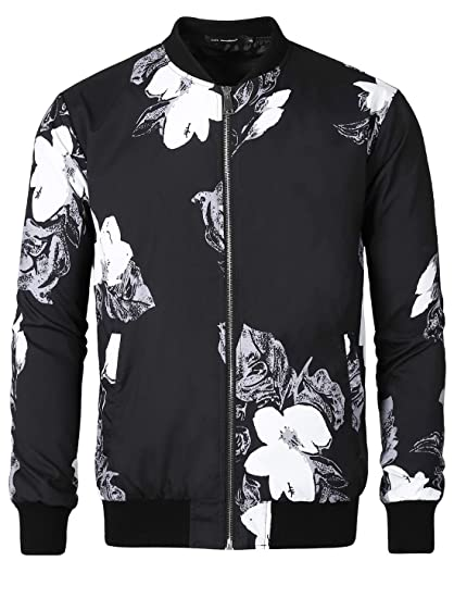 Image result for black bomber jacket full print
