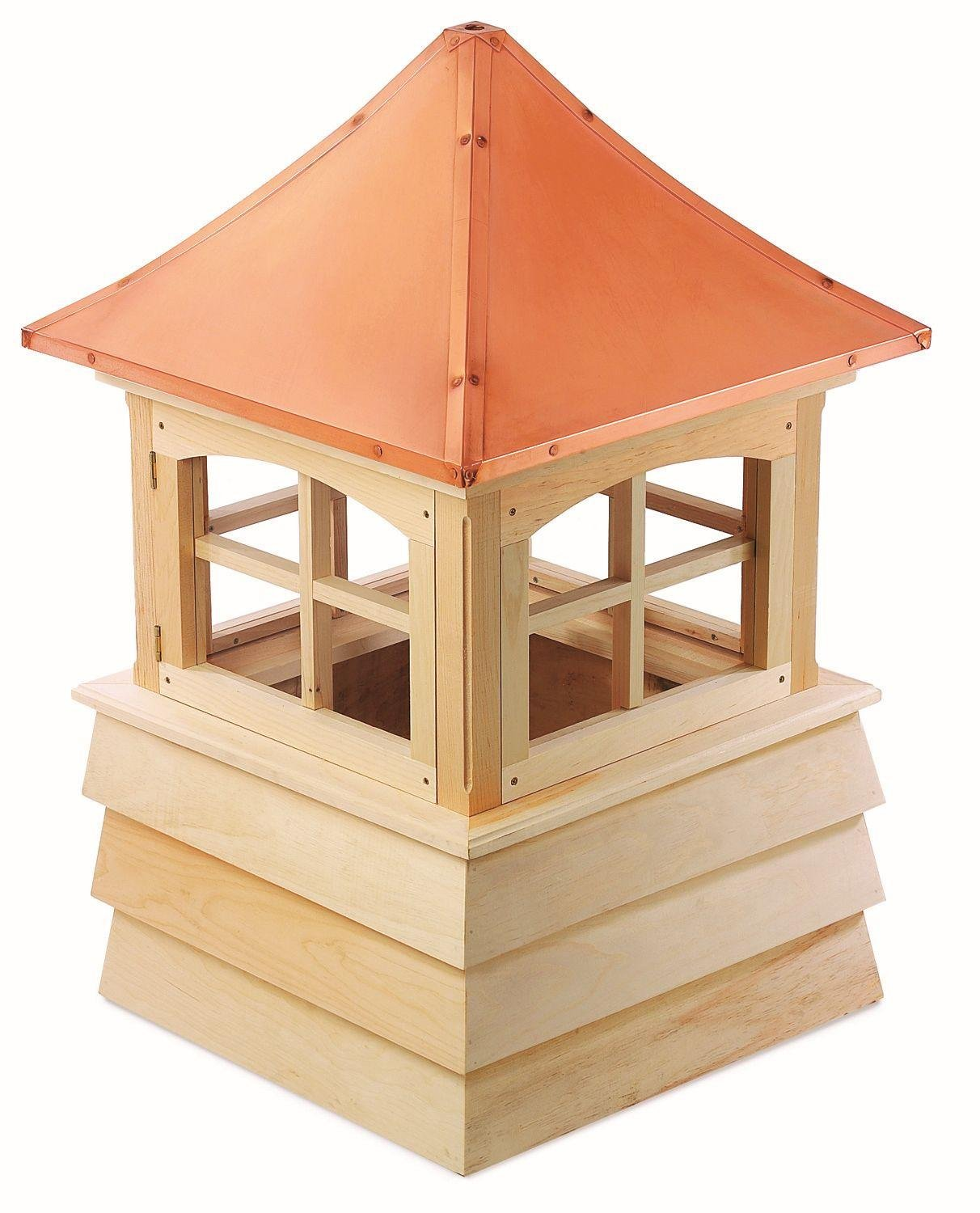 73'' Handcrafted ''Guilford'' Copper Roof Wooden Cupola