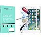 iPhone 7 plus Screen Protector,iPhone 8 plus Screen Protector, LEADEXTEK 3D Curve Full Coverage 9H Hardness Clear Premium Tempered Glass [Bubble-Free] Screen Protector for Apple iPhone 7 / 8 plus [5.5 inch,0.33mm- HD Ultra Clear] (iPhone 7 / 8 plus White 5.5 Inch)