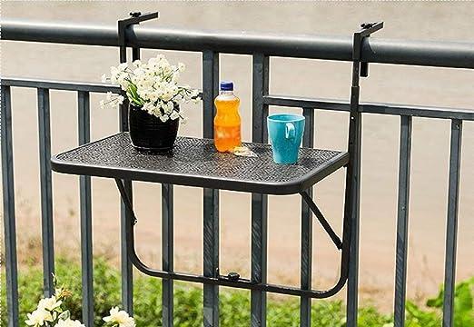 JAUTO - Mesa colgante para balcón de 60 x 40 cm, para colgar de ...