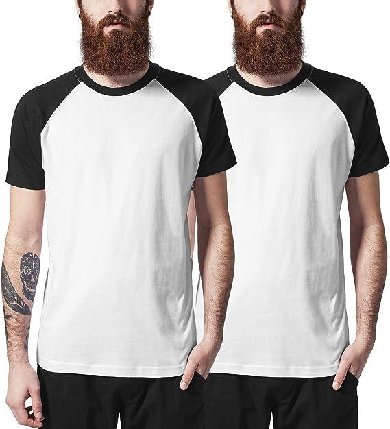 Urban Classics Raglan Contrast tee Camiseta (Pack de 2) para ...