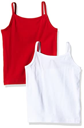 Ben   Lea Basic Tank Top with Adjustable Straps for Girls - Spaghetti Strap  Sleeveless Top in Pack of 2  Amazon.co.uk  Clothing bd3bde1df