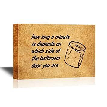 Amazon.com: wall26 - Bathroom Canvas Wall Art - Funny Quotes How ...