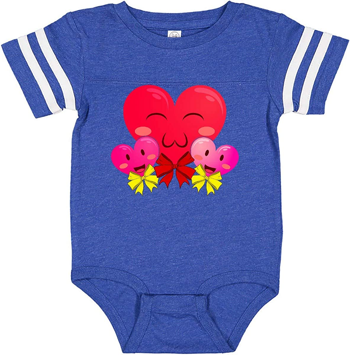 inktastic Valentines Day Family of Cute Hearts Infant Creeper