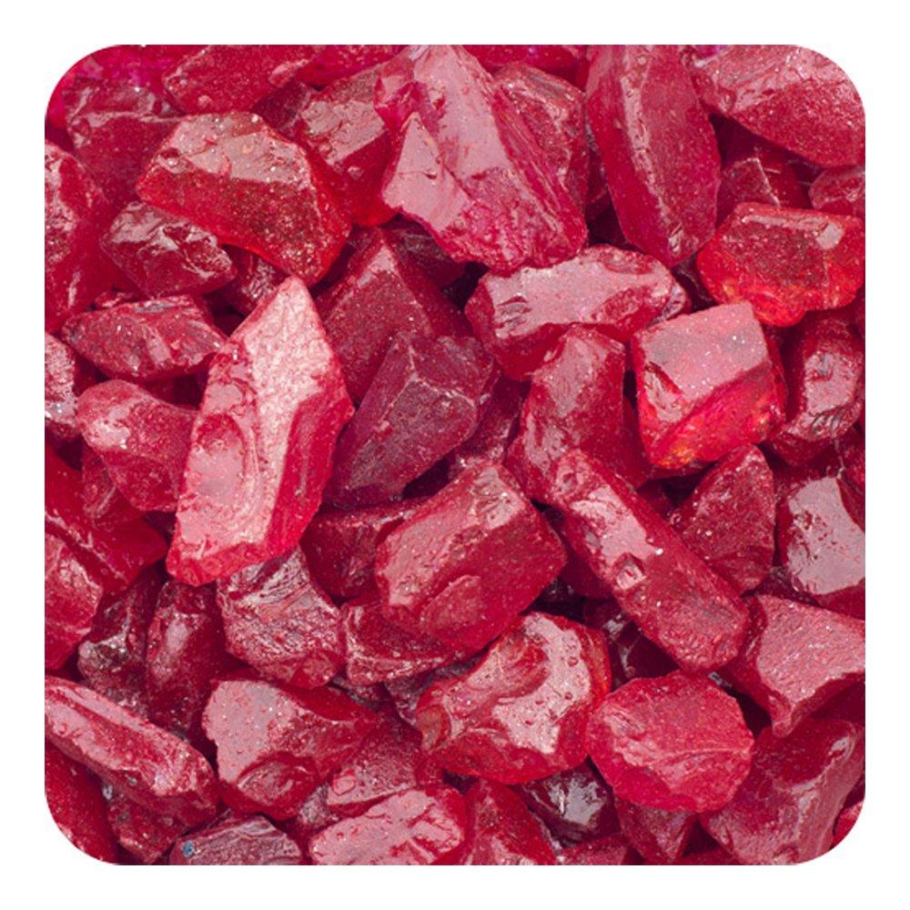 Sandtastik Colored ICE Real Glass Gems, Scatters 20 lb (9.09 kg) Box; 4 - 10 mm - Burgundy
