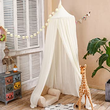 ClearUmm Cotton Play TentMosquito Net CanopyChildren`s Bed CanopyCeiling & Amazon.com: ClearUmm Cotton Play TentMosquito Net CanopyChildren ...