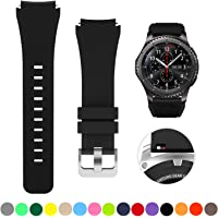 SAPU Bands for Samsung Gear S3 Frontier/Classic Watch Silicone Bracelet, Sports Silicone Band Strap Replacement Wristband for Samsung Gear S3 Frontier/S3 Classics Black
