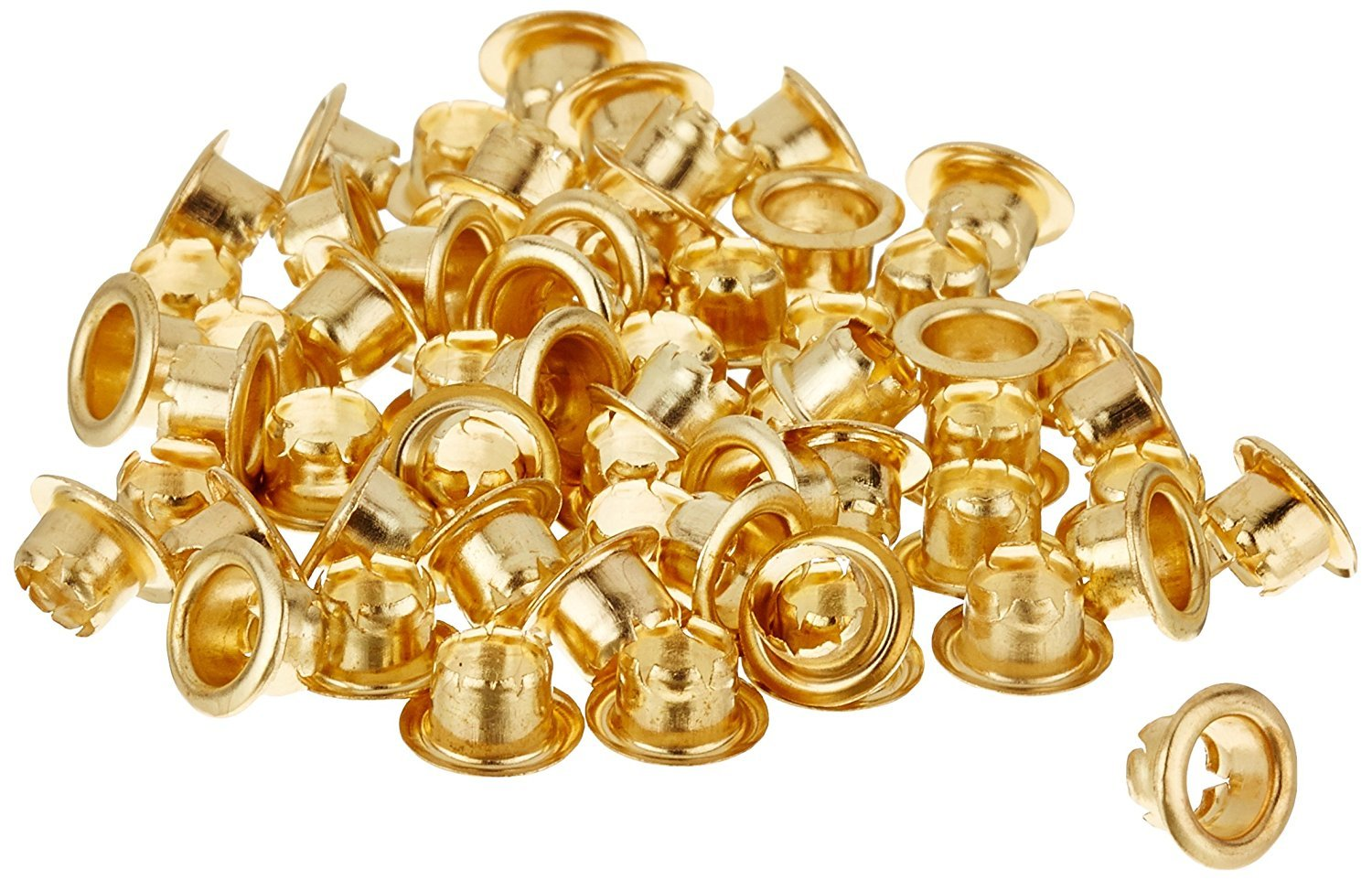 Natural Brass Finish Eyelets For Use With Rexel Eyeletter & Punch with a 4.7mm Diameter and 3.2mm Length (Sheet Capacity 15, Pack of 500) Acco 505183