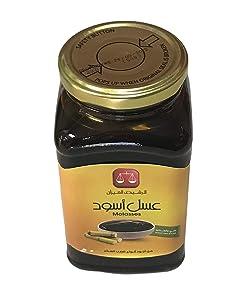 Egyptian Molasses Black Honey, Pure Cane Sugar Molasses, Glass jar 25.4 oz, 720 Gram